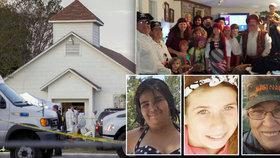 Slzy za mrtvé: Rodiny promluvily o obětech texaského střelce v kostele