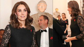 Potřetí těhotná vévodkyně Kate: Už se kulatí