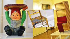 Stolek ze zahradního trpaslíka a miniaturní postele: Smíchov ukazuje to nejlepší z italského designu