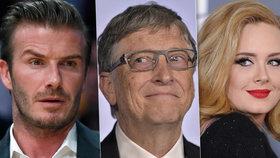 Denní výdělky slavných: Gates získá 205 milionů, Adele 4 miliony! A další?