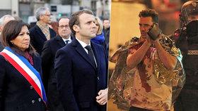 Paříž vzpomíná na 130 obětí teroru. Macron je na pietě poprvé jako prezident