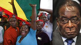 Robert Mugabe rezignoval: Zimbabwe bude mít nového prezidenta, lidé slaví v ulicích