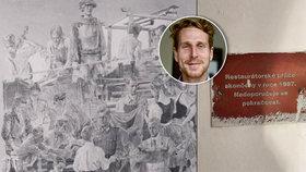 Odhalené tajemství brněnské radnice: Na zdi ukryli nacistickou fresku