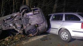 Mladý řidič vyletěl do protisměru: Sebe zabil, ženu s dětmi zranil