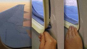 Šok v letadle nízkonákladového letu: Okénko šlo vyndat z rámu!
