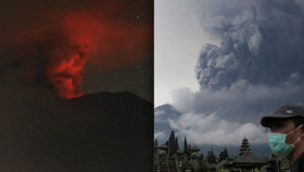 Erupce sopky na Bali: Letadlům hrozí poškození, ministerstvo varuje Čechy