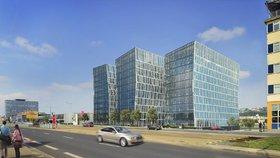 V Praze 9 začala stavba obří kancelářská budovy: Celkem vyjde na 1,15 miliardy korun