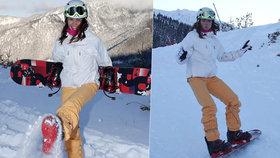 Dračice Leová na svahu: Poprvé vyzkoušela lyže a hned se vysekala!