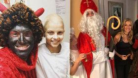 Jak si slavní užili Mikuláše? Vyrazili do nemocnic, dětských domovů nebo do ulic