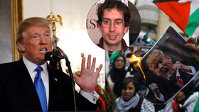 """""""Kudla do zad, co způsobí bouře."""" Expert rozebral Trumpův projev o Jeruzalému"""