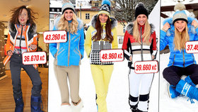 Souboj nejdražších outfitů ve Špindlu: Švantnerová, Arichteva, Hadašová a další tasily luxus!