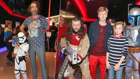 Celebrity na premiéře filmu Star Wars: Poslední z Jediů!