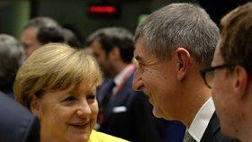 Babiš poletí za Merkelovou. Kancléřka bude v Bruselu řešit migranty