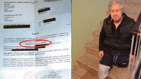 Vladimír Štěch (65) z Chebu požádal o protézy, a proto mu nedali vozík: Amputovali mi nohy, nemůžu do bytu ve 2. patře
