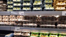 Kam se v obchodech poděla česká vejce? Regály jsou plné levnějších zahraničních