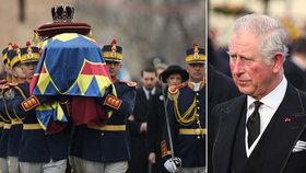 Evropská smetánka na pohřbu bývalého krále Rumunska: Dorazil i princ Charles