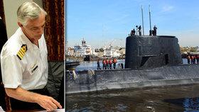 """Zmizelá ponorka """"potopila"""" i šéfa argentinského námořnictva. Pátrání pokračuje"""