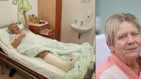 Bolestivé Vánoce Jaroslavy Obermaierové: Z nemocnice šla domů! Po úrazu se ale sotva hýbe