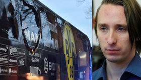 Chamtivec nastražil bomby pod autobus fotbalistů. Sergejovi hrozí za útok v Dortmundu doživotí
