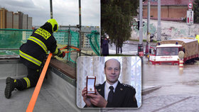 Služba u hasičů není jen o požárech: Marek zasahoval při povodních nebo při orkánu Hewart, dostal za to ocenění