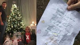 Tomáškův dopis pro Ježíška má šťastný konec: Nálezci z Polska mu poslali vysněné dárky