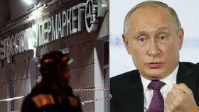 Tajná služba zadržela útočníka ze supermarketu v Petrohradě. Zranil 13 lidí