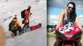 Tragické Vánoce v Tatrách: Kačenka (†25) padala stovky metrů. Před smrtí poslala fotku