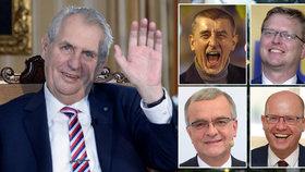Babišův pindík, Zemanova sv*ně a Sobotkovo ojeb*ní: Top politické výroky roku 2017