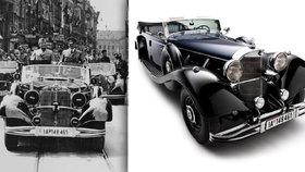 V USA dražili Hitlerův luxusní mercedes. 200 milionů bylo ale na kupce moc