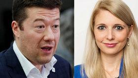 """Okamura straší terorem v Česku. Jeho blonďatá poslankyně naletěla """"uprchlické"""" lži"""