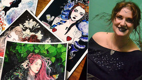 Chtěla být striptérkou: Dnes kreslí Katastrofé (27)  erotické omalovánky