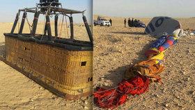 Balón s turisty při přistání havaroval: Egyptská tragédie dopadla fatálně