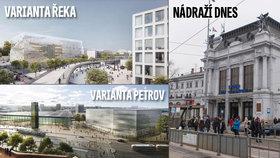 Zelení v Brně se nechtějí smířit s přesunem nádraží k řece: Stěžovat si budou Ťokovi