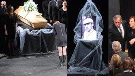 Pohřeb Zedníčkova synovce Jakuba (†27) museli přerušit! Maminka se zhroutila