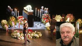 CELÝ ZÁZNAM: Pohřeb Mariána Labudy (†73): Loučili se Polívka, Vášáryová i Huba!