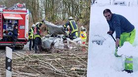 Sněhový orkán se žene Evropou: Zabil už čtyři lidi, zastavil letecký provoz