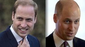 Princ William překvapil novým účesem: Hlava jako koleno!