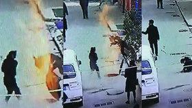 Chlapec hodil petardu do kanálu: Výbuch ho vyhodil tři metry do vzduchu!