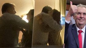 Za dveřmi Zemanova štábu: Nejedlý se objímal s Kate a šuškal si s Chovancem