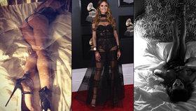 Provokatérka Heidi Klum po Grammy: Předvedla zadeček v tangách a prsa v sexy prádle