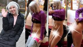 »Mám pipinu pěkně oholenou,« říká striptérka z obchoďáku a klidně by se svlékla zas! Hrozí jí ale vězení