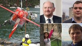 Milionář s rodinou po letecké tragédii ještě žili. Pak se utopili, řekl koroner
