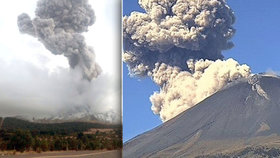 Strach u Popocatépetlu: Sopka se probudila a chrlí i lávu