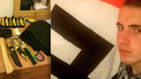 Mačetou plánoval vraždit gaye: Bisexuál s hákovým křížem na zdi se prozradil sám