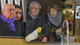 Pohřeb skladatele Zdeňka Bartáka (†89): Přišly české legendy i milenka Slováčka