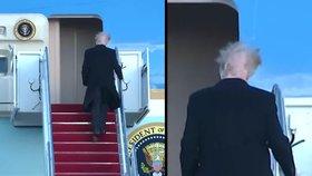 Vítr ve vlasech odhalil Trumpův problém: Přehazovačka skrývá plešku