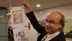 Fotografie, malby i kreslené vtipy Romana Jurkase. Galerie 14 zahájila únorovou výstavu