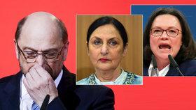 """""""Vedení strany je hadí jáma,"""" zlobí se Schulzova sestra. SPD poprvé povede žena"""