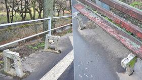 Vytrhaná prkna a díry v asfaltu: Pozůstatky laviček hyzdí okolí Botiče, na jaře se lidé dočkají nových