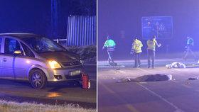 Auto u Českého Brodu srazilo dva chodce: Muž i žena na místě podlehli